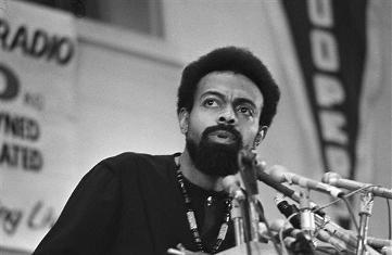 This March 12, 1972 file photo shows poet and social activist Amiri Baraka speaking during the Black Political Convention in Gary, Ind. Baraka, a Beat poet, black nationalist and Marxist revolutionary known for his blues-based, fist-shaking manifestos, died, Thursday, Jan. 9, 2014, at Newark Beth Israel Medical Center in Newark, N.J. at age 79. Photo/Julian C. Wilson (AP File Photo)